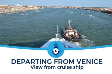 Partenza Venezia nave crociera departing cruise ship